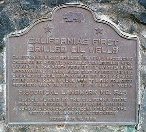 Petrolia, California - Image: California Historical Landmark 543 Petrolia First Oil Wells