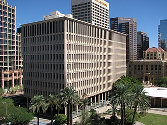 Maricopa County Courthouse - The Phoenix Municipal Building replaced the city hall in the County Courthouse (right)