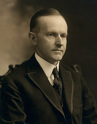 Calvin Coolidge - Image: Calvin Coolidge, bw head and shoulders photo portrait seated, 1919