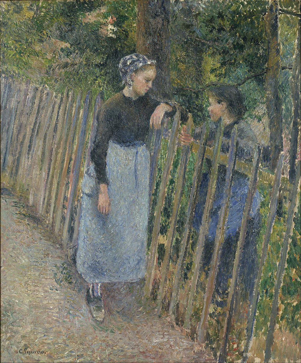 Camille Pissarro - Conversation - Google Art Project