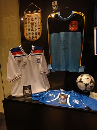 Admiral Sportswear - The Admiral-designed England shirt (left) introduced in 1980