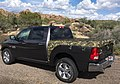 Camouflage Qwiktarp using the black adjustable bungees on a 2018 Dodge Ram.jpg