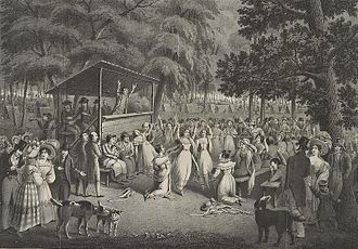 What Wondrous Love Is This - Camp meeting during the Second Great Awakening