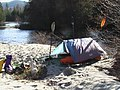 Camp spot ,Gravel River. Confluence of the West Gravel and Gravel Rivers - panoramio.jpg