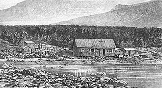 1874 Transit of Venus Expedition to Campbell Island - Expedition base on Campbell Island, 1874