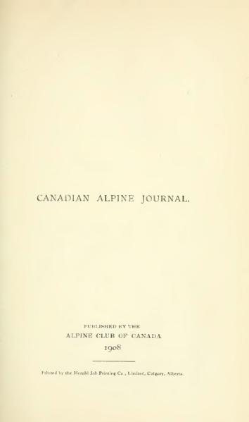 File:Canadian Alpine Journal I, 2.djvu