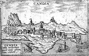 Kingdom of Candia - Engraving of Candia, 1595