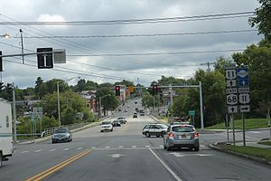 New York State Route 68 - US11 and NY68 merge in Canton, NY