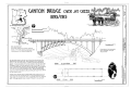 Canyon Bridge, North Rim Trail spanning Jay Creek, Lake, Teton County, WY HAER WY-87 (sheet 1 of 1).png