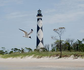 Core Banks, North Carolina - Cape Lookout Lighthouse