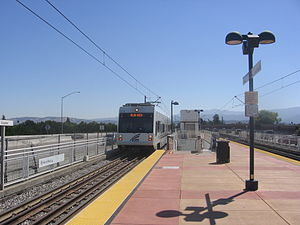 Capitol station (VTA) - A VTA train at Capitol Station