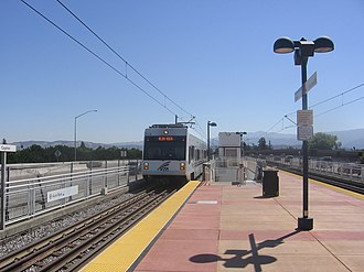 Capitol station (VTA) - A VTA train at Capitol Station