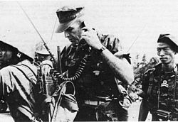 January 30: Tet begins. Captain Franklin P. Eller during Tet Offensive Vietnam.jpg