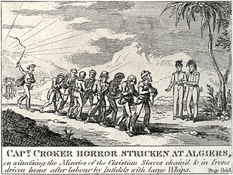 Captivity narrative - British captain witnessing the miseries of Christian slaves in Algiers, 1815