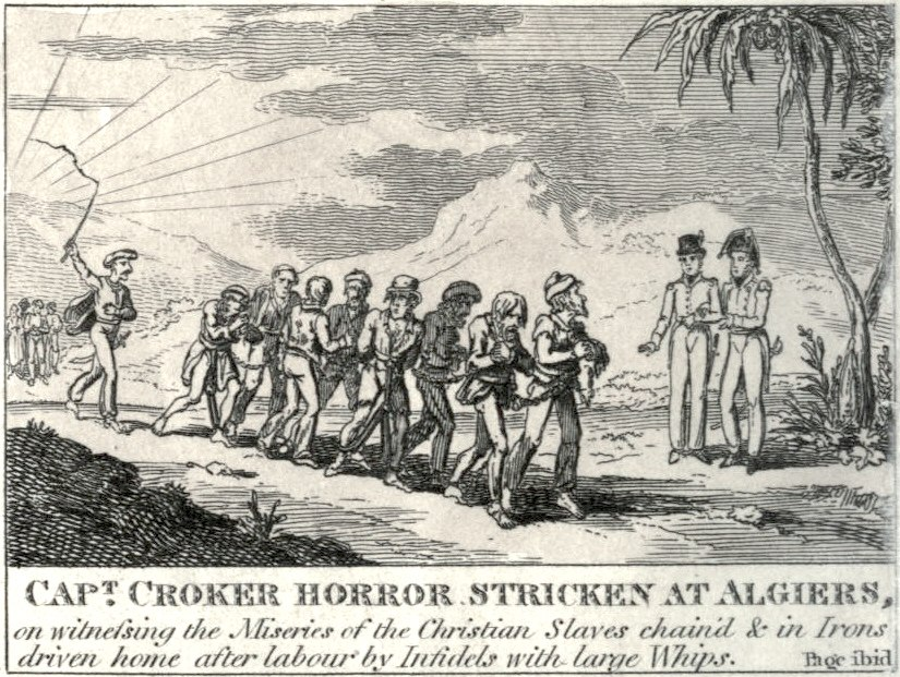Captain walter croker horror stricken at algiers 1815