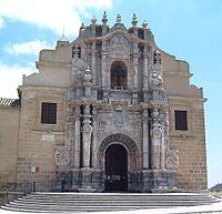Baroque façade of the Castle of Vera Cruz