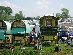 English: Caravans at Appleby Horse Fair