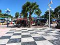 Caribbean Dominoes Floor at Marigot Market (6546101445).jpg