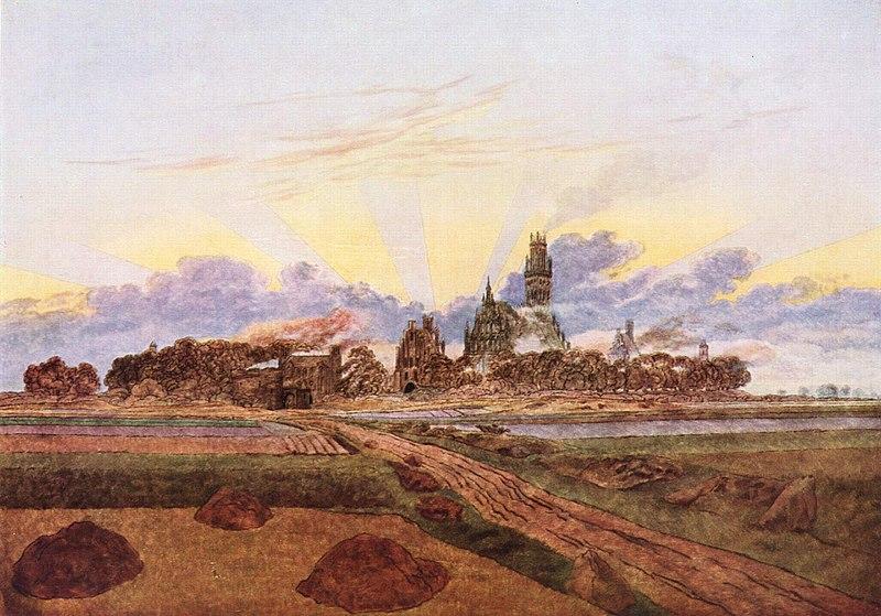 Das brennende Neubrandenburg (Caspar David Friedrich)