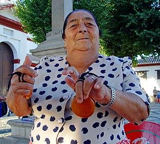 Castanets -  Castanets seller in Granada, Spain