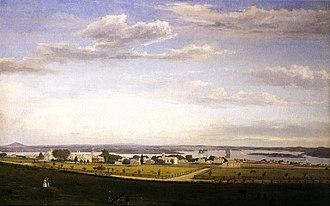 Pentagoet Archeological District - Image: Castine from Fort George