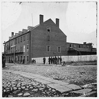 Hattie Lawton - Castle Thunder Prison, Richmond, Virginia, 1865.