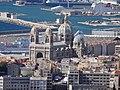 Cathédrale Sainte-Marie-Majeure de Marseille vue de ND de la Garde.JPG