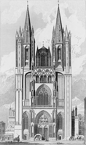 Coutances Cathedral - The west front