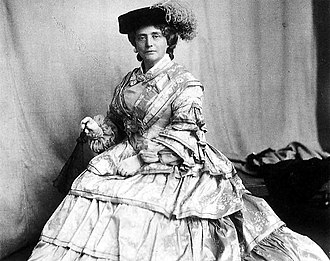 Catherine Cranston - The resolute Kate Cranston around 1903, dressed in the style of the 1850s.