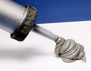 Silicone - Silicone caulk can be used as a basic sealant against water and air penetration.