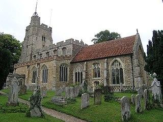 St Mary the Virgins Church, Cavendish Church in Suffolk, England