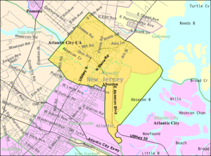 Absecon, New Jersey - Image: Census Bureau map of Absecon, New Jersey