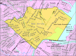 Census Bureau map of Elizabeth, New Jersey