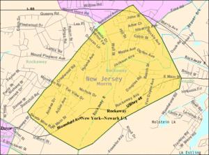 Rockaway, New Jersey - Image: Census Bureau map of Rockaway, New Jersey