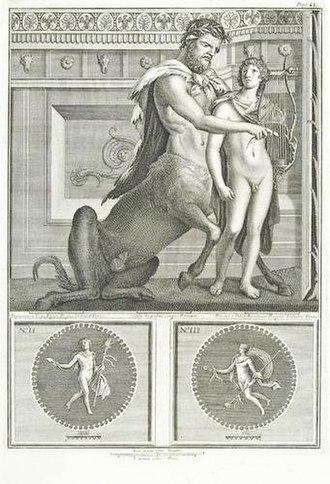 Le Antichità di Ercolano - Centaur and lyre player