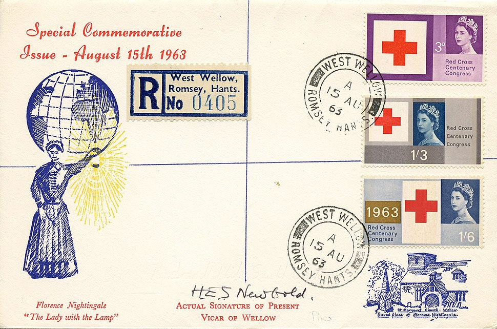 Centenary of the Red Cross cover 1963