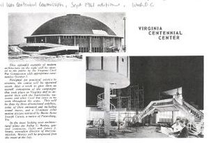Centennial Dome - An image of the Centennial Dome under construction, taken from national Civil War Centennial Commission newsletter