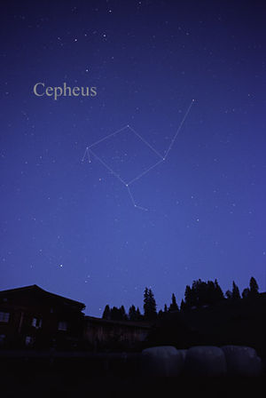 Cepheus (constellation) - The constellation Cepheus as it may be seen by the naked eye