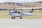Cessna U206G Stationair (VH-HIS), with magnetometer 'stinger' tailboom, at Wagga Wagga Airport.jpg