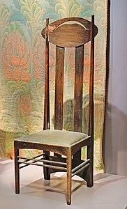 Chaise de Charles Rennie Mackintosh (Musée d'Orsay) (8982129778)