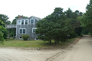 "Chappaquiddick incident - ""Dike House"" along Dike Road"