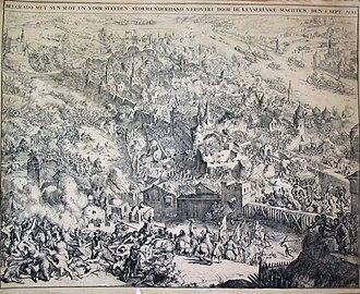Siege of Belgrade (1688) - Image: Charge on Belgrade, 6 September 1688