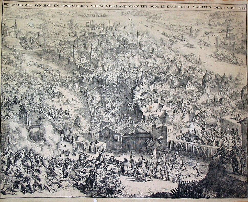 Charge on Belgrade, 6 September 1688