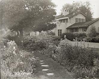 Reginald Davis Johnson - Charles Francis Paxton house, 1160 South Orange Grove Boulevard, Pasadena. Reginald Davis Johnson, architect, completed 1919. Landscape: Renelje Schenck (Mrs. Charles F.) Paxton. Today: House relocated to South Pasadena