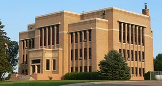 Charles Mix County, South Dakota - Image: Charles Mix County courthouse from NW 6