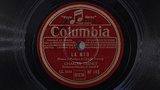 Charles Trenet - Charles Trenet. La mer (78 rpm Columbia)