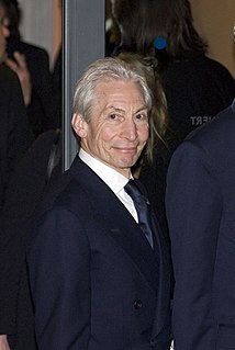 Charlie Watts British drummer of The Rolling Stones