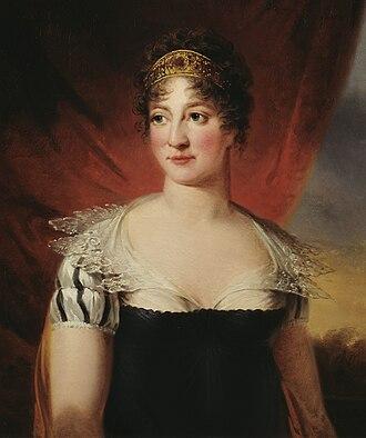 Hedvig Elisabeth Charlotte of Holstein-Gottorp - Portrait by Carl Frederik von Breda, 1814.
