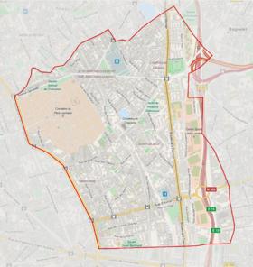 Plan du quartier de charonne arts et voyages for Plan de belle villa