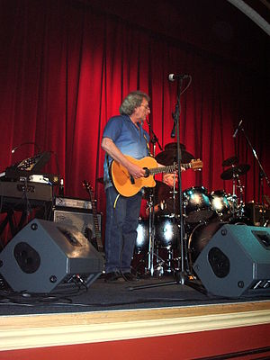 Chas Cronk on stage with Strawbs on 7th June 2...